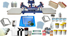 Screen Printing Kit Micro-adjust 4 Color Screen Printing Press Full Set Material