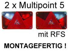 2 x Multipoint 5 mit RFS Rücklicht Rückleuchte Aspöck Anhänger Lampe Leuchte NEU