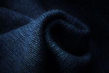 A2 bouilli PUR Mélange de Laine chunky côtelé de luxe Tricot Marine Foncé Bleu
