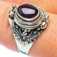 Garnet 925 Sterling Silver Ring Size 8.75 Ana Co Jewelry R36217F