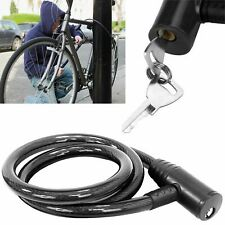 Bike Bicycle Cycle Security Cable Chain Spiral Bike Heavy Duty Lock With 2 Keys
