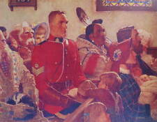 Canadian Mountie RCMP in Church
