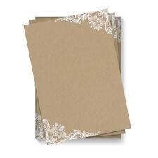 Briefpapier Motivpapier DIN A4 Beidseitig Vollflächig - Kraftpapier Look