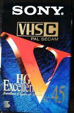 JVC Compact Vhs VhsC Tapes EHG 45 x1 Cassettes Brand New Sealed Hi Fi Pal Secam