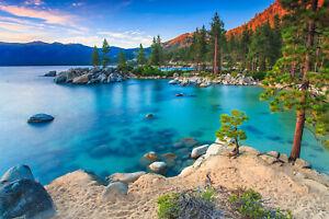 Fototapete See Tahoe USA Landschaft - Kleistertapete oder Selbstklebende