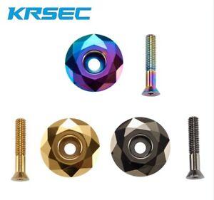 "KRSEC Aluminum Road Mountain Bike diamond 1 1/8"" Headset Stem Top Cap with Bolt"
