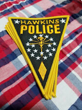 "Stranger Things  Hawkins Police badge logo, 5"" Tall Embroidered Patch"