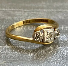Art Deco Antique 18ct Yellow Gold Diamond Ring