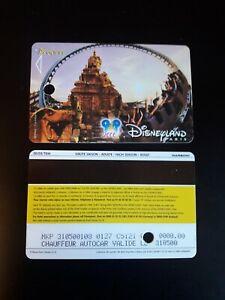 pass Euro Disney Disneyland Indiana Jones GRATUIT Chauffeur verso 00/03/TEM TTB