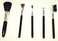 COSMETIC BRUSH SET 5 Pc Foundation Shadow Blush Eye Makeup Make Up Brushes New I