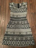Black & White Xhilaration Sleeveless Women's Dress - Size: Extra Small (XS)