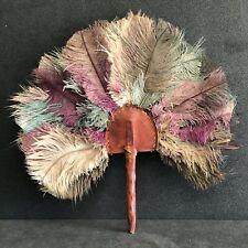 Eventail plumes Afrique pièce ancienne collection de colon