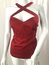 Deadly dames Red voodoo vixen top Pinup Retro By Micheline Pitt XL