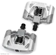 Crank Brothers Mallet 2 Clipless Platform DH MTB Bike Pedals + Cleats Raw Silver