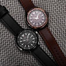 NAVIFORCE 9056 Mens Leather Band Luminous Quartz Watch 30M Water Resistant 3ATM