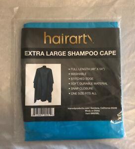 "Hairart Shampoo Cape Snap Closure (Size: 48"" X 54"") Color: Light Blue NIP!"