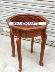 "18"" x 12"" Teak Wood Stand For Marble Table Top Made In India For Home & Office"