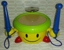 Colorful Drum With Smiley Face and Holding Drumsticks Toy