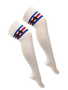 Adult Referee White and Red Blue Stripe with 24 Print OTK Socks Accessory UK