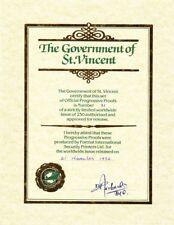 1984 4 x St Vincent Progressive Proofs Locos.