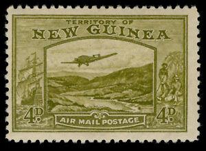 AUSTRALIA - New Guinea GVI SG217, 4d yellow-olive, M MINT. Cat £15.