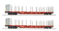 Roco HO 76141 - Set 2-tlg. Rungenwagen, Rail Cargo Austria, ÖBB, NEUHEIT 2018