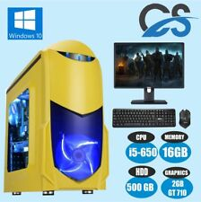 Ultra PC Rápido Para Jugar LOTE ORDENADOR INTEL CORE I5 16gb RAM 500GB 2GB GT710