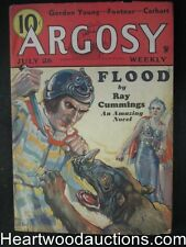 Argosy July 28, 1934 Classic  Sci-Fi Cover, Ray Cummings