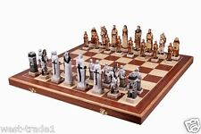 BRAND NEW LUXURY GRUNWALD CHESS SET GREAT PIECES AND BOARD 60cm x60cm