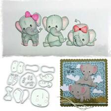 Baby Elephant Metal Cutting Dies Scrapbooking Stencils Card Paper Album Decor