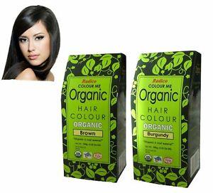 RADICO COLOUR ME ORGANIC HAIR COLOUR - 10 COLOURS 100% NATURAL