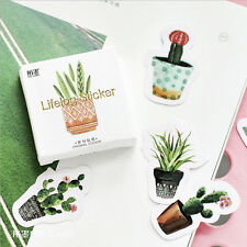 45 x Paper Stickers Cactus Plants Succulent Diaries Planners Kawaii Scrapbooking