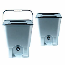 Twin Bokashi Bucket Kitchen Composter & Bran, 2 x 18L Plastic Bins, 1Kg Bran