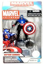 Marvel Universe TRU Comic Series Captain America with Light Up Collector Base!