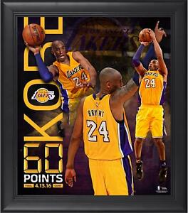 """Kobe Bryant Los Angeles Lakers Frmd 15"""" x 17"""" 60 Point Finale Collage - Fanatics"""