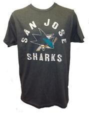 New San Jose Sharks Mens Sizes S-M-L-XL-2XL-3XL Gray G-III Shirt $25