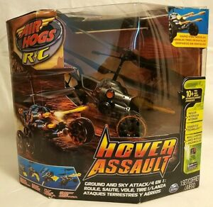 Air Hogs Hover Assault Black R/C Missile Launching Ground And Sky Attack NEW