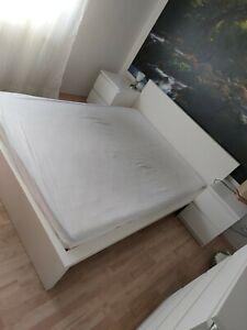 Malm Bett 140x200 mit 2 Nachtschränken 150€