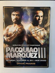 Pacquiao vs Marquez 3 Official Program Signed By Both Fighters; LOA