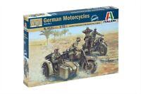 Italeri   1:72 - 6121 WWII Deutsche Motorräder mit Figuren, Modellbausatz GMK
