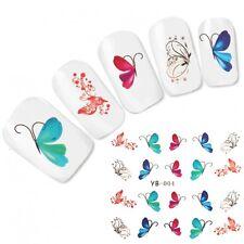 TATTOO Nail Art Adesivi Colorato Farfalla Unghie unghie sticker NUOVO!