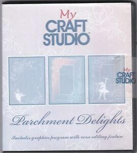 My Craft Studio Parchment Delights Designs CD ROM=C