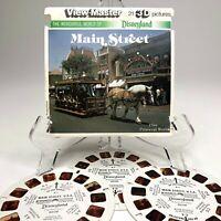 Vintage 3D ViewMaster Disneyland Main Street + Primeval World 3 Reel 21 Pictures