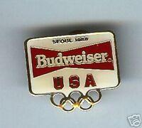 old BUDWEISER BEER 1988 Seoul OLYMPICS Sponsor pin