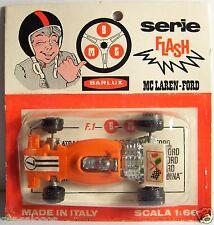 OLD BARLUX EMG 1976 FORMULE 1 F1 IN BOX 1/66 MADE ITALY MC LAREN FORD N°7 ORANGE