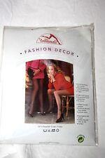 80er Jahre Bellinda Nylon Glanz Decor Strumpfhose Gr. 40 Schwarz 15 Den Vintage