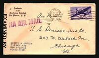 US 1942 Censor Airmail Cover / PR to Chicago - Z17353