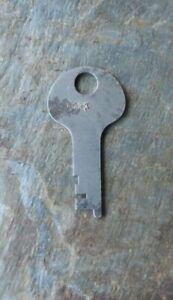 Antique Steamer Trunk Key Cut For Corbin  T133   T 133  Flat Key # T-133