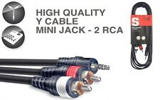 Y-kabel - mini-stereoklinke/2 x m. Cinch, 3m, B3