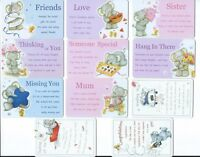 Sister, Mum, Love, Missing You, Hang in There Wallet card ~ choice of 11 designs